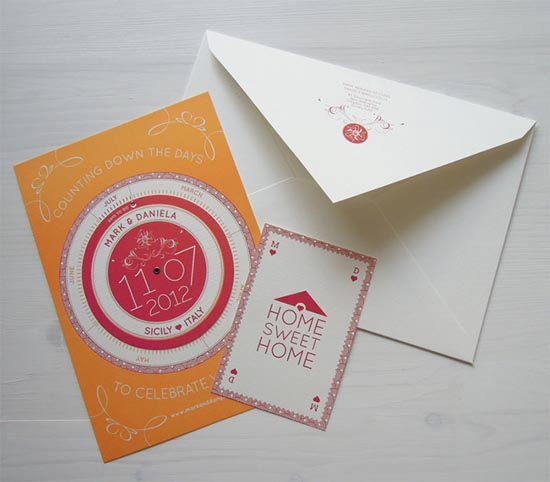 creative wedding card 3