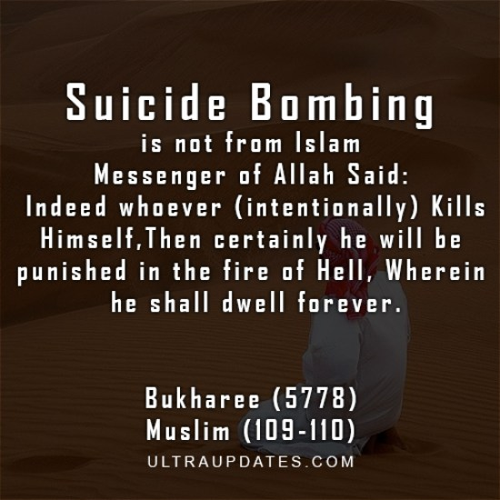 inspirational islamic quotes anti suicide bombing quote