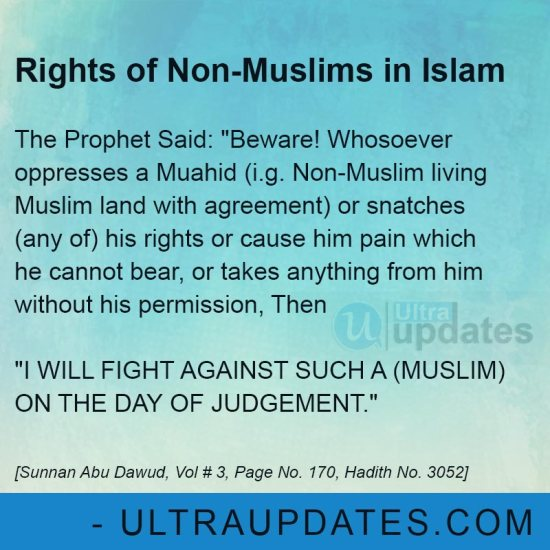 Non Muslims rights in Islam