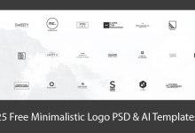 Photo of 25+ Free Minimalistic Logo PSD & AI Templates