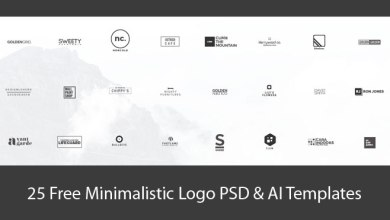 Photo of 25+ Free Minimalistic Logo PSD & AI Templates