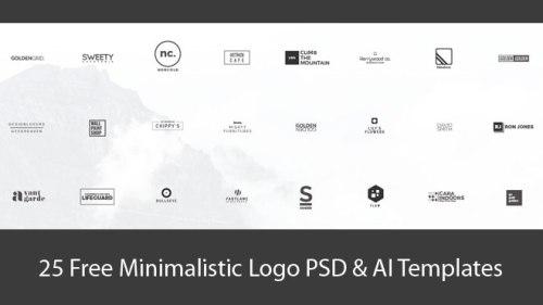 25 Free Minimalistic Logo PSD & AI Templates