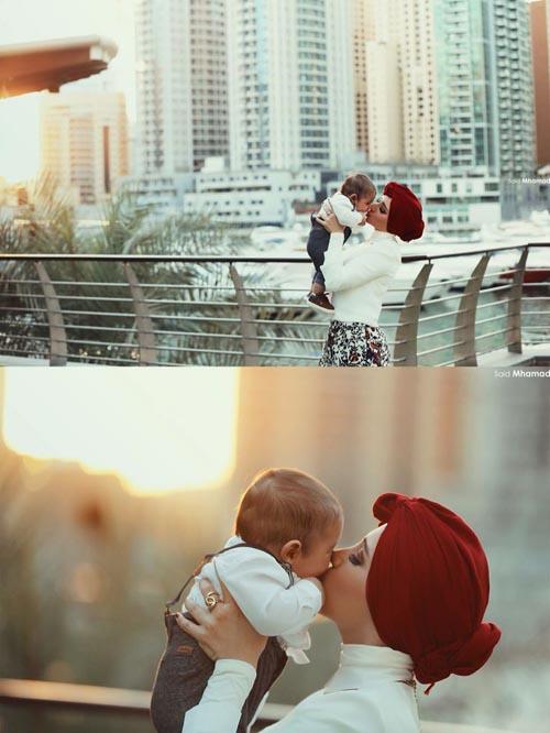 Beautful Hijab Girls With Their Cute Kids 6