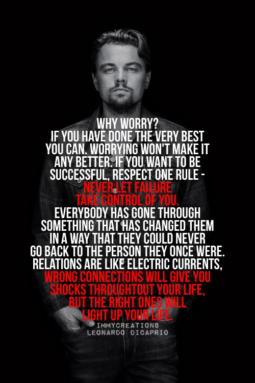 leonardo dicaprio quotes about relationships