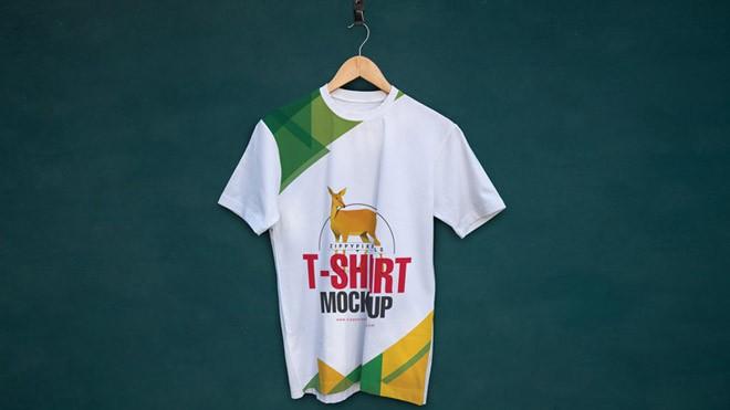 Crew Neck T-shirt Mock-Up