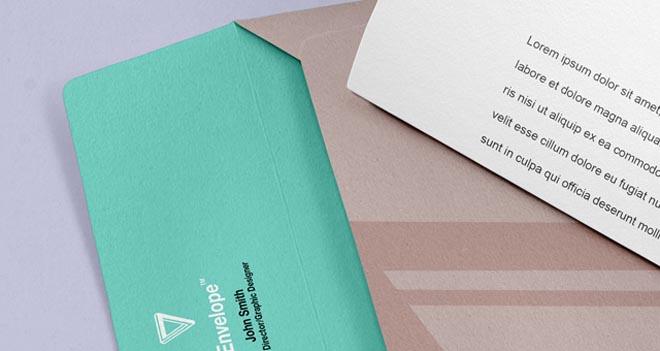 Free Envelope Letter Psd Branding Mockup 1