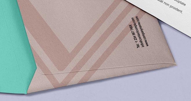 Free Envelope Letter Psd Branding Mockup 2