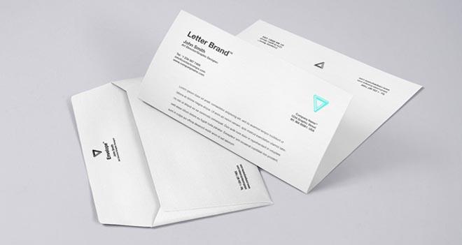 Free Envelope Letter Psd Branding Mockup 4