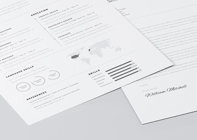 Clean Resume Template for Photoshop and Illustrator 4