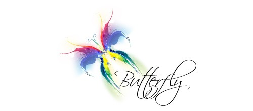 awesome butterfly logo