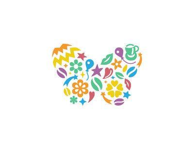 colorful butterfly logos