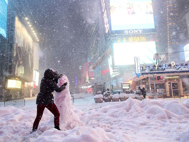 Incredible Photographs of New York City Winter Storm 2016 Blizzard -a