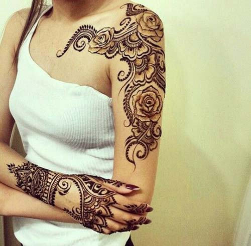 Henna Mehndi Designs For sholder