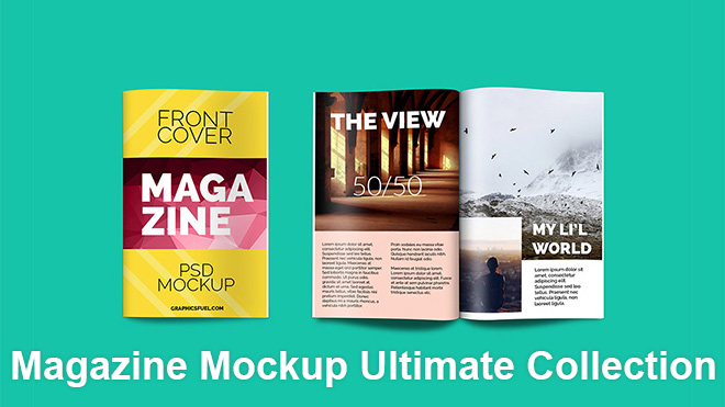 With this amazing mockup you can see and showcase your designs on a real magazine.the mockup is a high angle shot of open magazine with its one page being turned which gives a view of 3 pages. 48 Best Free Magazine Mockup Psd Templates 2018