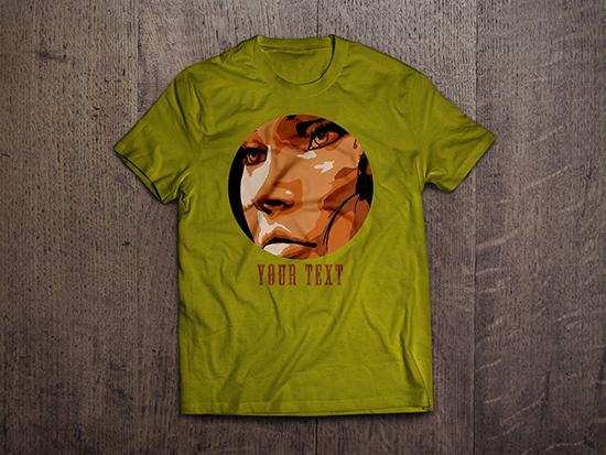 t shirt design vector template