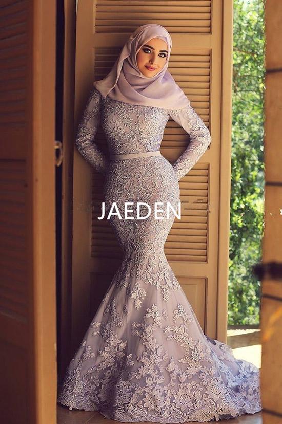 JAEDEN-High-Neck-Muslim-Wedding-Dresses-Applique-Long-Sleeves-Floor-Length-Zipper-Back-Lace-Mermaid-Bridal (1)
