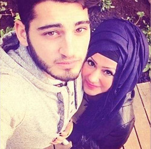 beautiful couple selfie