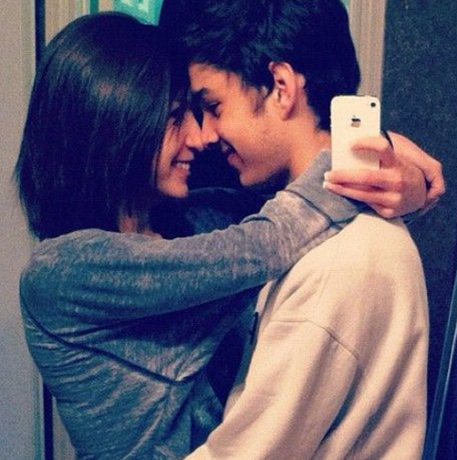 cute couple selfie 2