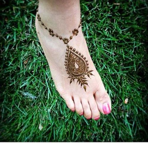 easy simple henna designs for feet