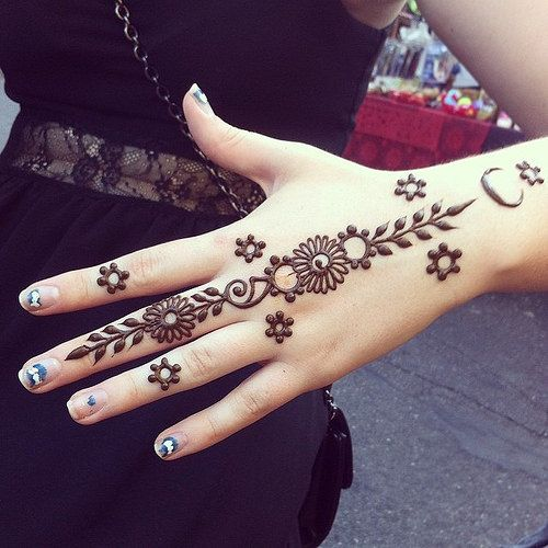 latest simple henna design for hand