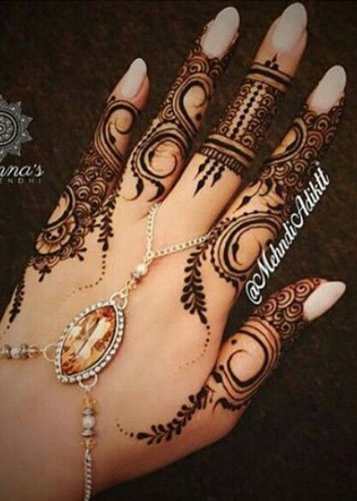 simple henna and mehndi designs for fingers