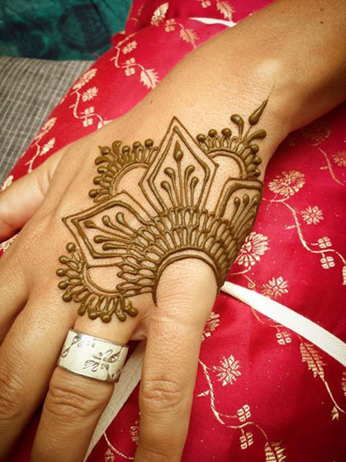 simple henna design for finger
