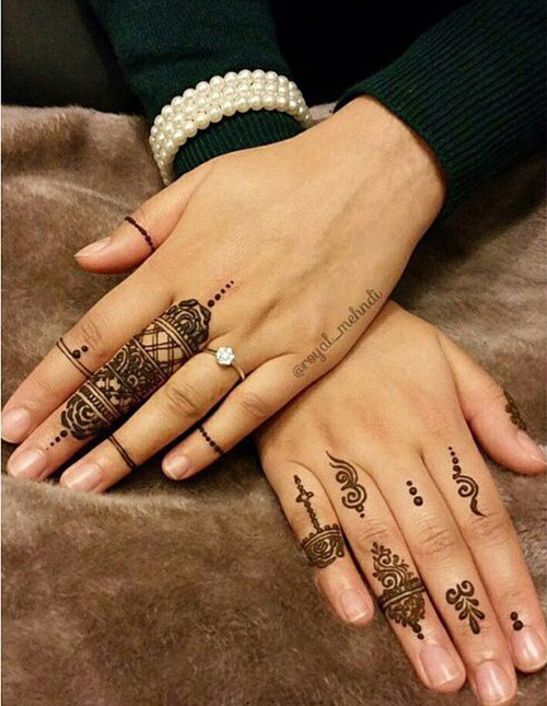 simple henna designs for fingers 2