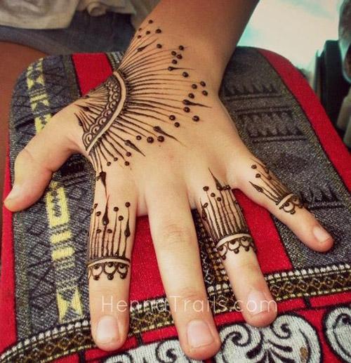 simple mehndi designs for fingers