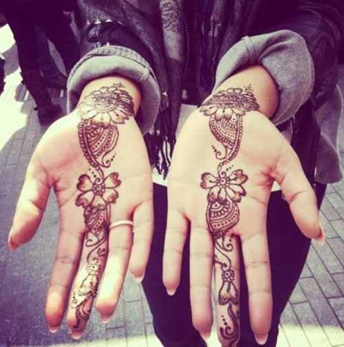 simple mehndi designs for palm
