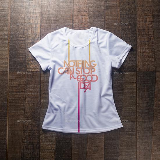 White T-shirt Mockup Template