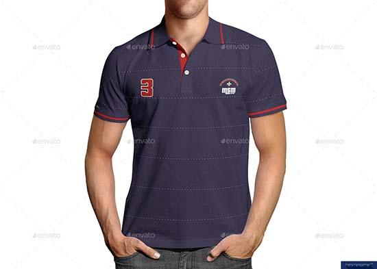 Polo Shirt on Model Mock-up