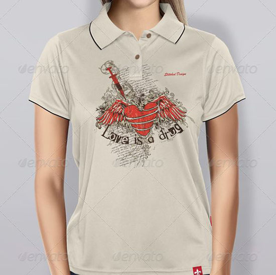 Womens Polo Shirt Mock-up