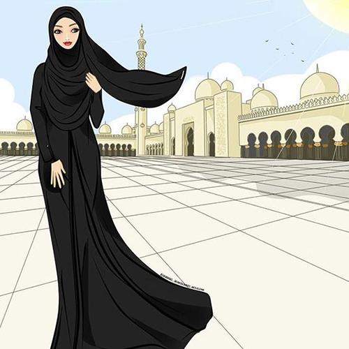 Wallpaper Cute Cartoon Muslimah 50 Beautiful Islamic Dps Images For Girls Amp Boys Best