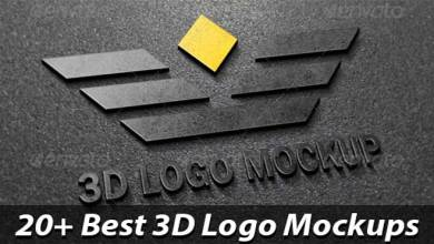 Photo of 26+ Best 3D Logo Mockup PSD & Vectors