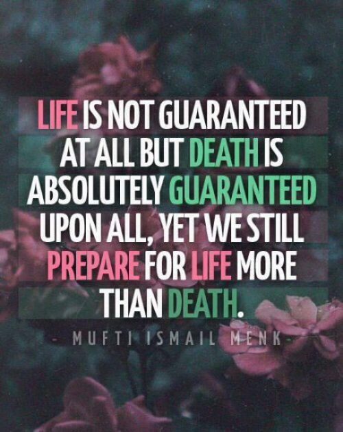 islamic death quotes saying