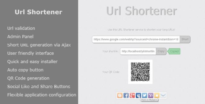 Url Shortener script with ads