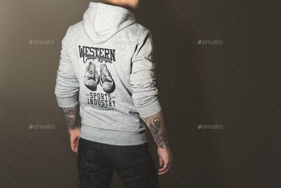 hoodie back mockup