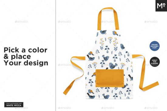 Kid Toddler Apron Mock-up