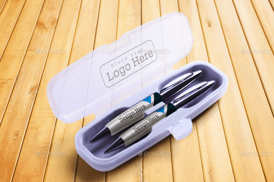 pen with box mockup