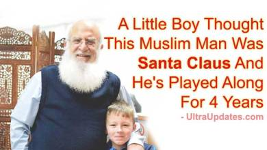 Photo of A Little Boy Thought This Muslim Man Was Santa Claus And He's Played Along For 4 Years