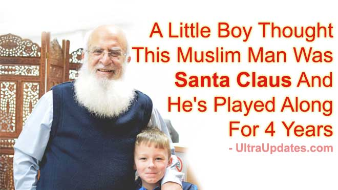 A Little Boy Thought This Muslim Man Was Santa Claus And He's Played Along For 4 Years