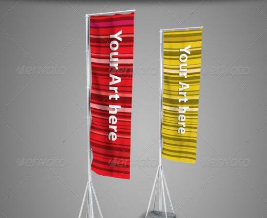 vertical flag mockups