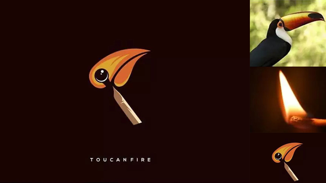 Designer Combines Different Objects To Create Minimal Logos