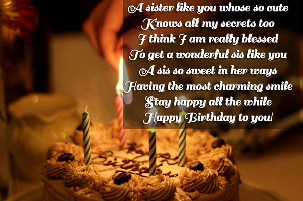 Best Happy Birthday Wishes for sis