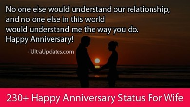 Photo of 230+ Happy Anniversary Status For Wife [Facebook & Whatsapp]