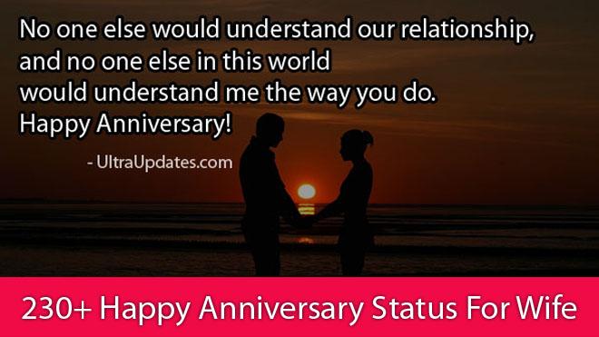 Happy Anniversary Status For Wife