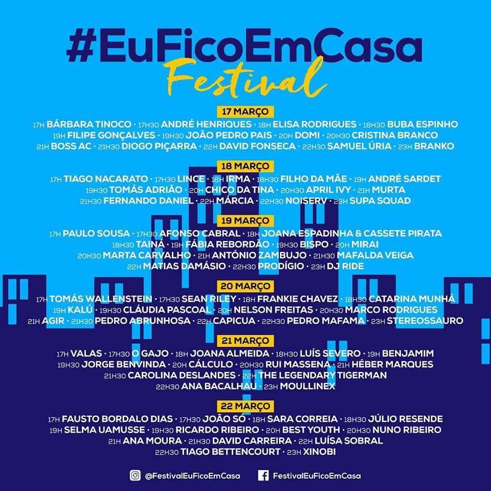 cartaz do festivaleuficoemcasa. Saiba mais sobre a iniciativa na coluna de Alvaro Tallarico.