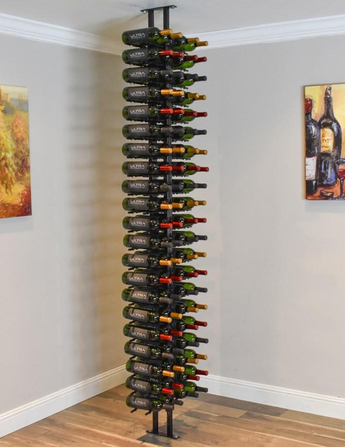 Floor To Ceiling Metal Floor Standing Wine Rack Ultra