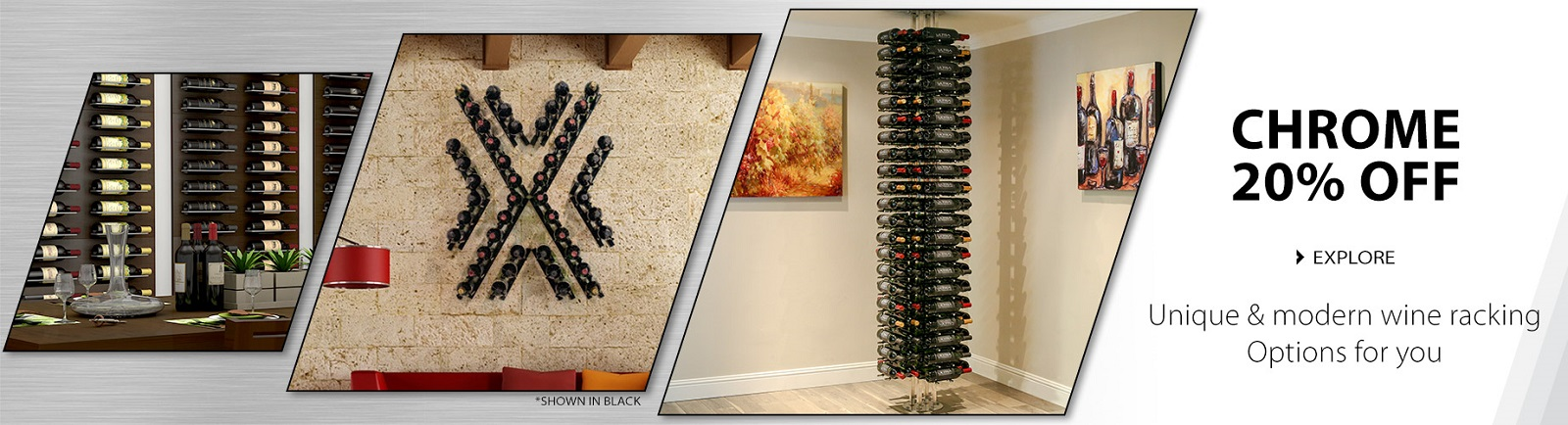 Modern Metal Wall Mounted Wine Racks Ultra Wine Racks & Cellars