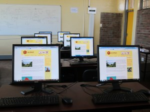 The Ulwazi Programme website, loaded and ready